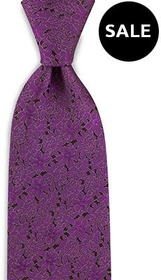 Necktie Floral Night