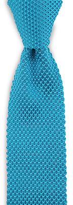 Necktie gebreid silk turkoois