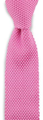 Necktie knitted silk pink
