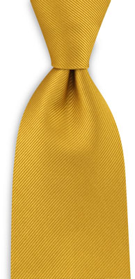 Necktie repp yellow