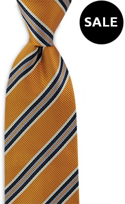 Necktie orange stripe
