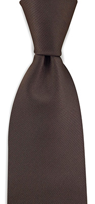 Necktie chocolate brown