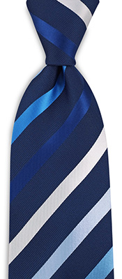 Necktie blue striped