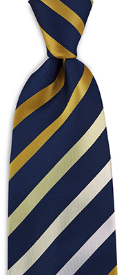 Necktie yellow / blue / white