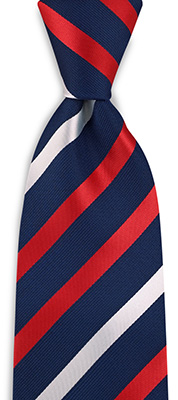 Necktie red / white / blue