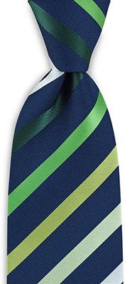 Necktie green striped