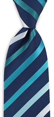 Necktie turkoois striped