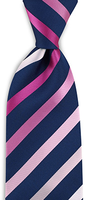 Necktie pink striped