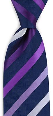 Necktie purple striped