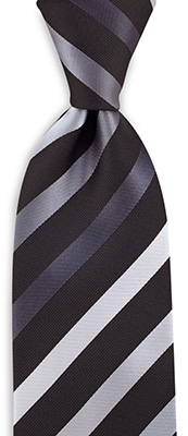 Necktie grey striped