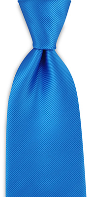 Necktie process blue repp