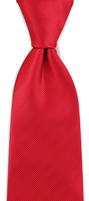 Necktie red repp