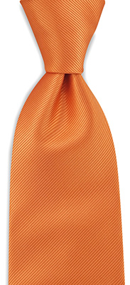 Necktie orange repp