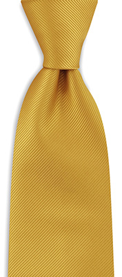 Necktie yellow repp