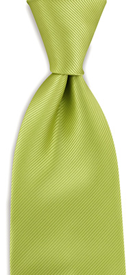 Necktie lime green repp