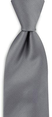 Necktie grey repp