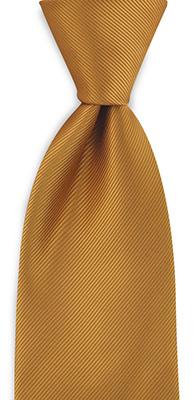 Necktie ochre repp
