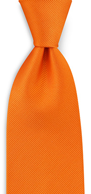 Necktie repp orange