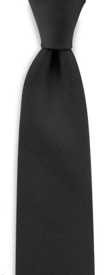 Necktie black narrow