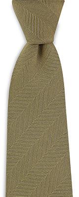 Necktie silk wool herringbone