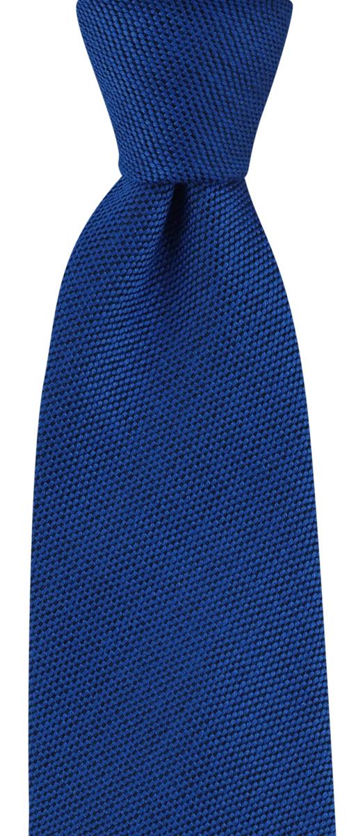 Necktie wool silk royal blue