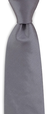 Necktie silk satin grey