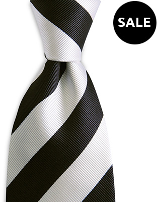 Necktie black / white