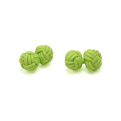 Cuff links fabric lime green