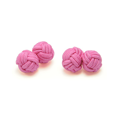 Cuff links fabric pink