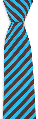 Necktie Blue Warrior