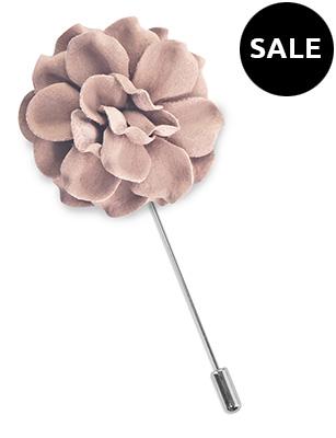 Lapel pin flower Pale Mauve